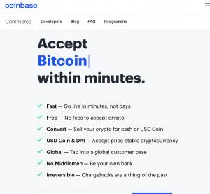 Coinbase Commerce Website